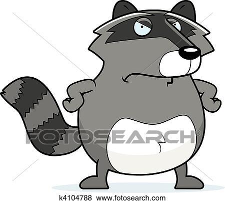 Angry Raccoon Clip Art