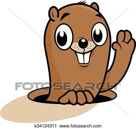 Dessin Anime Marmotte Amerique Clipart K34124311 Fotosearch