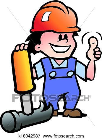 clip art of happy mechanic or handyman k18042987 search clipart rh fotosearch com handyman clip art free handyman clip art free images