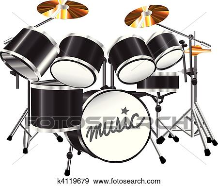 Drum set Clip Art | k4119679 | Fotosearch