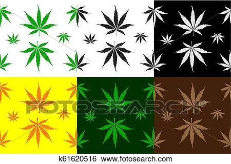 Marijuana Leaves Vector Pattern Clip Art K61620516 Fotosearch