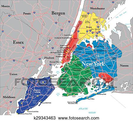 New York City map Clipart