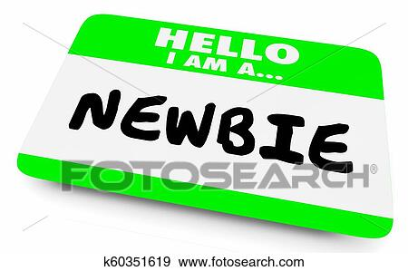 stock illustration of newbie new employee member introduction hello
