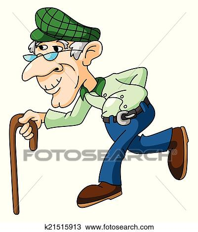 clipart of old man k21515913 search clip art illustration murals rh fotosearch com old man clip art funny old man clip art silhouette