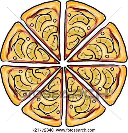 Clipart Pezzi Di Pizza Schizzo Per Tuo Disegno K21772340