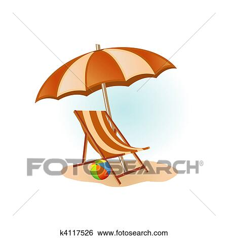 Sonnenschirm clipart gratis  Stock Illustration - sandstrand, bild k4117526 - Suche Clip Art ...