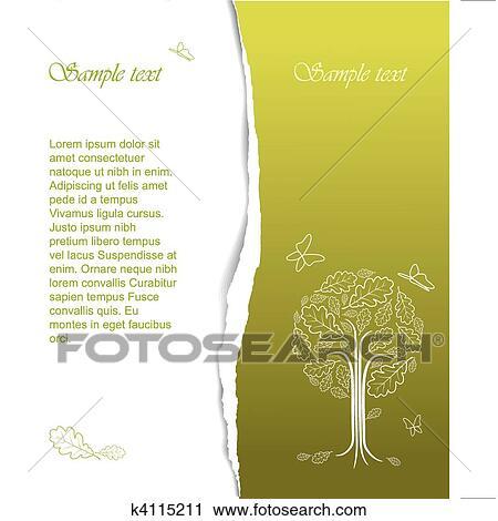 Clipart Vendemmia Estratto Stilizzato Albero Disegno K4115211