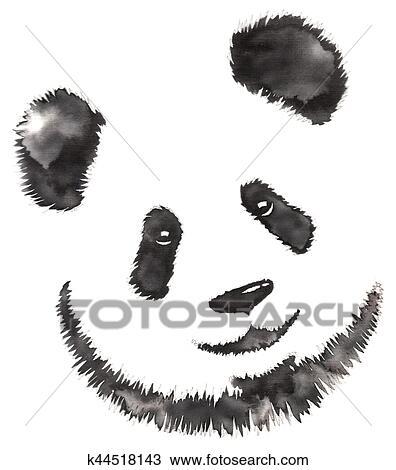 Betere Zwart wit, monochroom, schilderij, met, water, en, inkt, trekken HA-53
