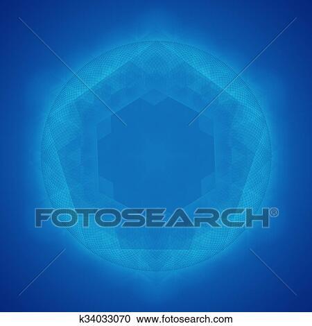 神圣 几何学 符号 蓝的背景剪贴画 K Fotosearch