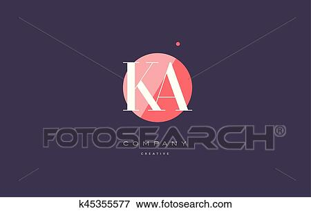 Clip Art Of Ka K A Retro Vintage Rhombus Simple Black White