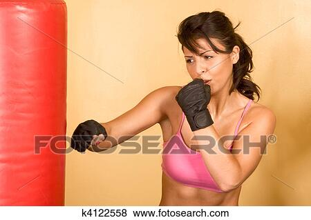 Stock Foto - kickboxen, opleiding. Fotosearch