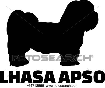 Lhasa Apso Silhouette Real Word Clipart K64718965 Fotosearch