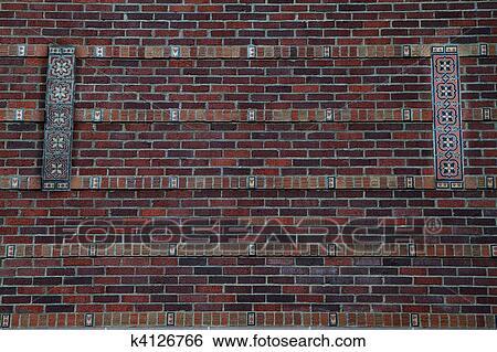 Archivio di immagini muro di mattoni con piastrella disegno