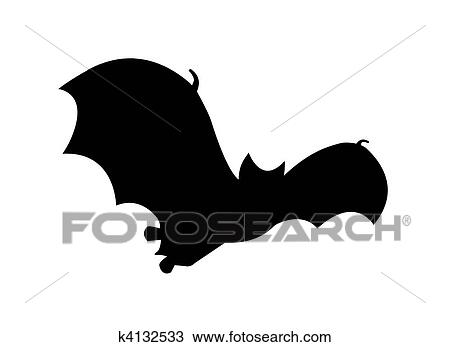 コウモリ シルエット フライトで Clipart スケッチ K4132533