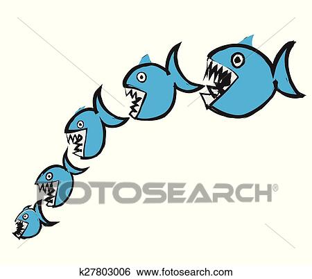 Clip art of doodle big fish eating up smaller k27803006 search clip art doodle big fish eating up smaller fotosearch search clipart illustration thecheapjerseys Choice Image