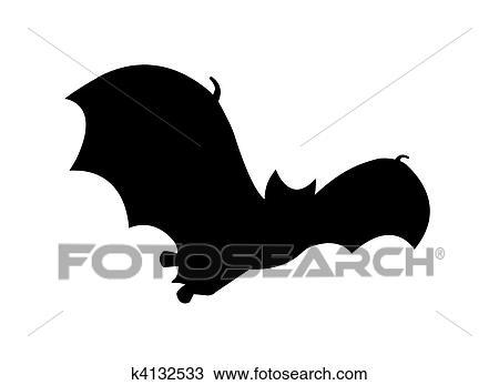 desenho morcego silueta vôo clipart k4132533 busca de imagens