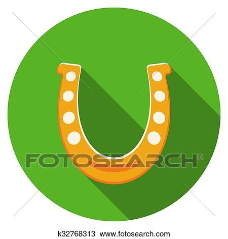 clipart apartamento desenho ouro ferradura ícone k32768313