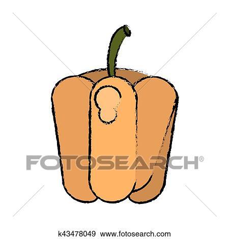 Dibujo Pimienta Vegetal Dieta Nutrición Clip Art