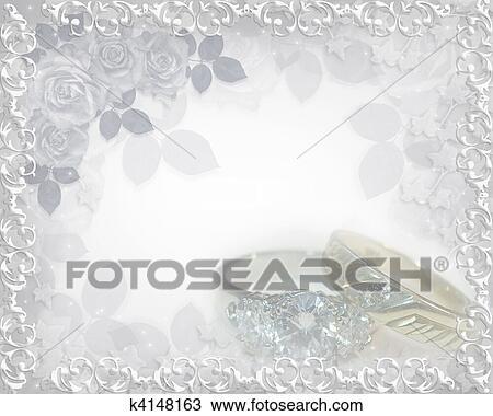 Zeichnung Hochzeitskarten Weich Beruhren Ringe K4148163 Suche