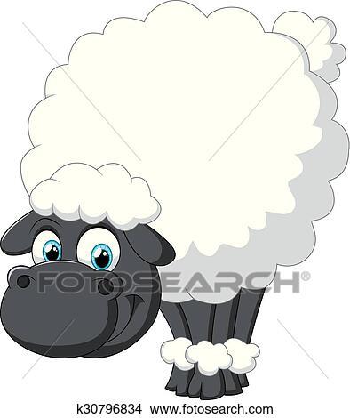 Clipart sourire mouton dessin anim k30796834 - Mouton dessin anime ...