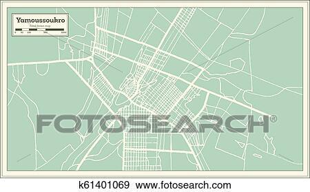 Yamoussoukro Ivory Coast City Map in Retro Style. Outline Map. Clip on bujumbura map, algiers map, sana'a map, juba map, baga, nigeria map, greenwich mean time zone map, yaounde map, mbabane map, mande people map, vatican city map, zimbabwe map, africa map, kabul map, ankara map, bloemfontein map, timbuktu map, life map, reykjavik map, man map, bratislava map,
