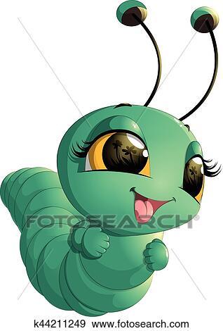 Cute Caterpillar Cartoon Clip Art K44211249 Fotosearch