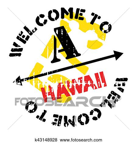 Stock Illustration Of Hawaii Stamp Rubber Grunge K43148928
