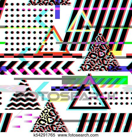 90s Christmas Background.Seamless Pattern Glitch Design Cyberpunk Digital Background With Geometric Gradient Elements Abstract Composition For Fabric Fashion 80s 90s