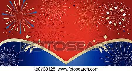 Patriotic Christmas Background.Fireworks Abstract Patriotic Soccer Background 2019 Clip Art