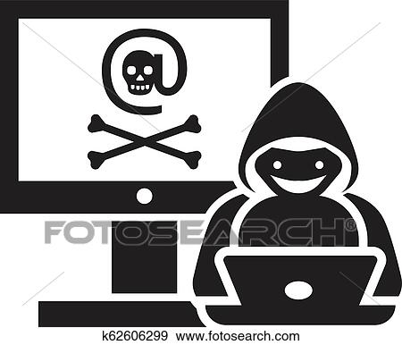 hacker activity icon simple style clip art k62606299 fotosearch fotosearch