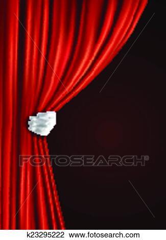 clipart th tre rideau main k23295222 recherchez des clip arts des illustrations des. Black Bedroom Furniture Sets. Home Design Ideas