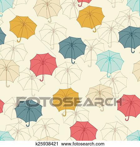 Cake Seamless Pattern Vector Image Compact Travel Umbrella Windproof Reinforced Canopy 8 Ribs Umbrella Auto Open And Close Button Personalized