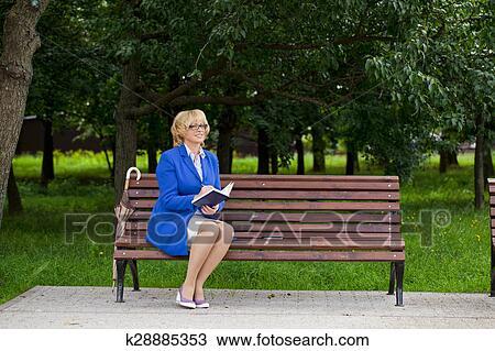 Mature public bench