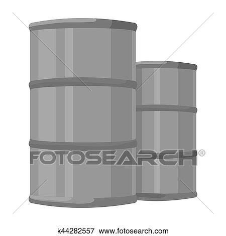 Stock Illustration Of Oil Barrels Icon In Monochrome Style Isolated