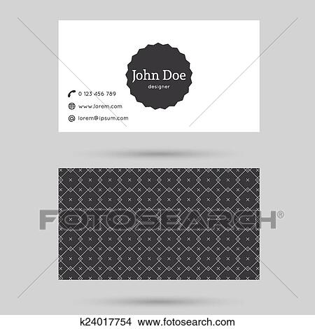 Clipart of trendy business card template k24017754 search clip art trendy business card template with vintage label and elegant seamless pattern minimalism design black cheaphphosting Images
