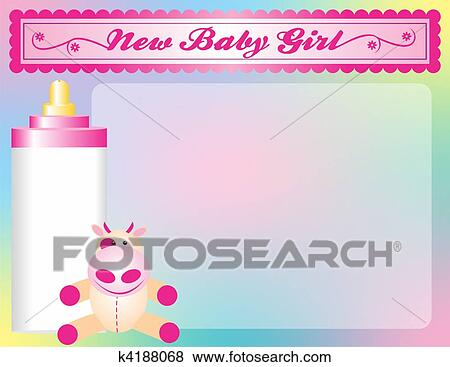 Baby Shower Background Stock Illustration K4188068 Fotosearch