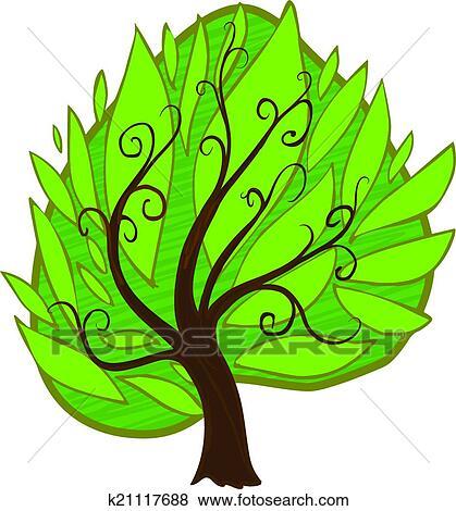 Cartoon Tree Isolated Clip Art K21117688 Fotosearch Max c4d unitypackage upk ma obj fbx usd. fotosearch