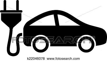 Electric Car Icon Clip Art K22046078 Fotosearch