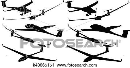 clipart of glider sailplane illustration k43865151 search clip art