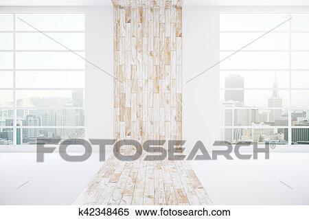 Archivio Illustrazioni - interno, con, luce, parete legno k42348465 ...