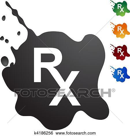 Clip Art Of Prescription Symbol K4186256 Search Clipart