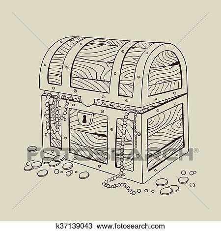 clipart of vector treasure chest k37139043 search clip art