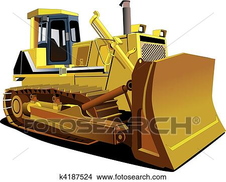 clipart of yellow dozer k4187524 search clip art illustration rh fotosearch com dozer clipart black and white Dozer Logo