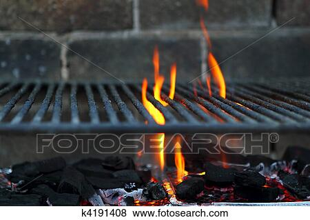 pictures of bar b cue barbecue fire bbq coal fire iron grill