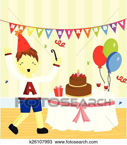Clipart Of Birthday Party K26107993