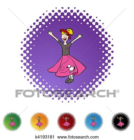 Clipart Of Poodle Skirt K4193181 Search Clip Art Illustration