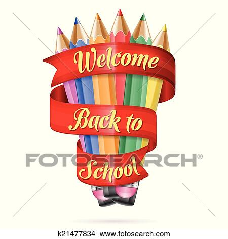 clipart welcome back to school fotosearch search clip art illustration murals