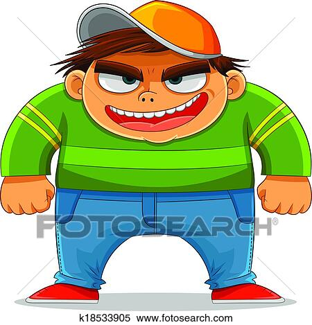 clipart of cartoon bully k18533905 search clip art illustration rh fotosearch com bull clipart bully clipart black and white
