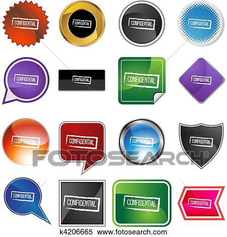 Clipart Of Confidential Ink Stamp K4206665