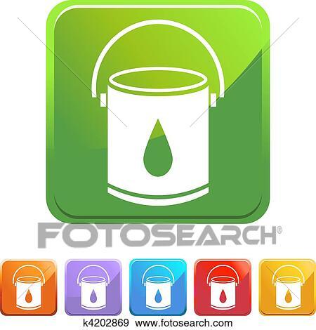 Clipart - målarfärg hink k4202869 - Sök Clipart 41e0b21c2ff15